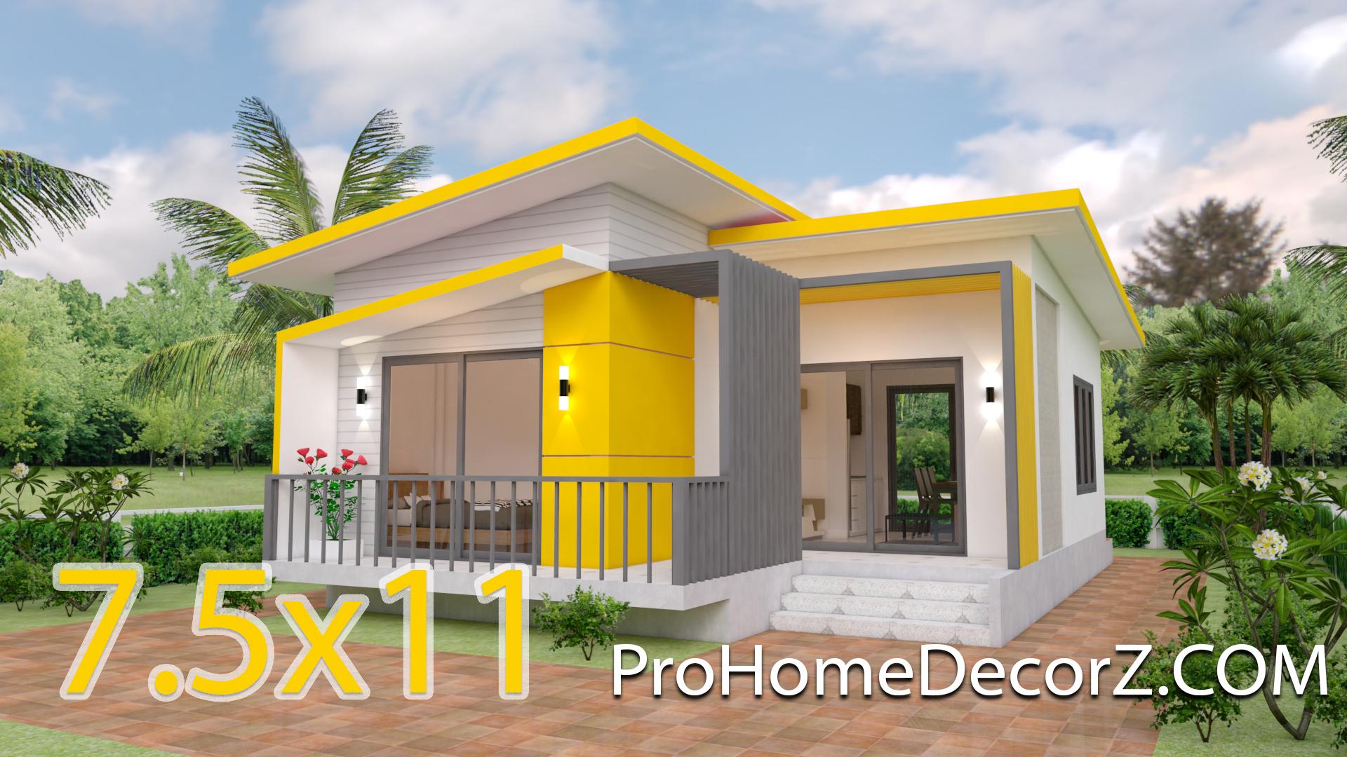 Small Modern House Design 32.32x32 Meter 232x32 Feet   Pro Home DecorS