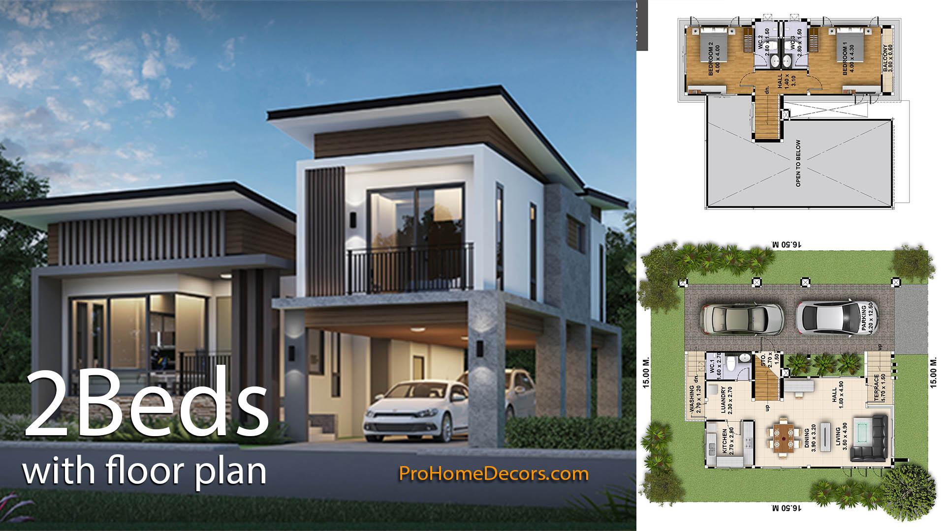 2-Bedrooms-House-Plot-15x16.5-Meter