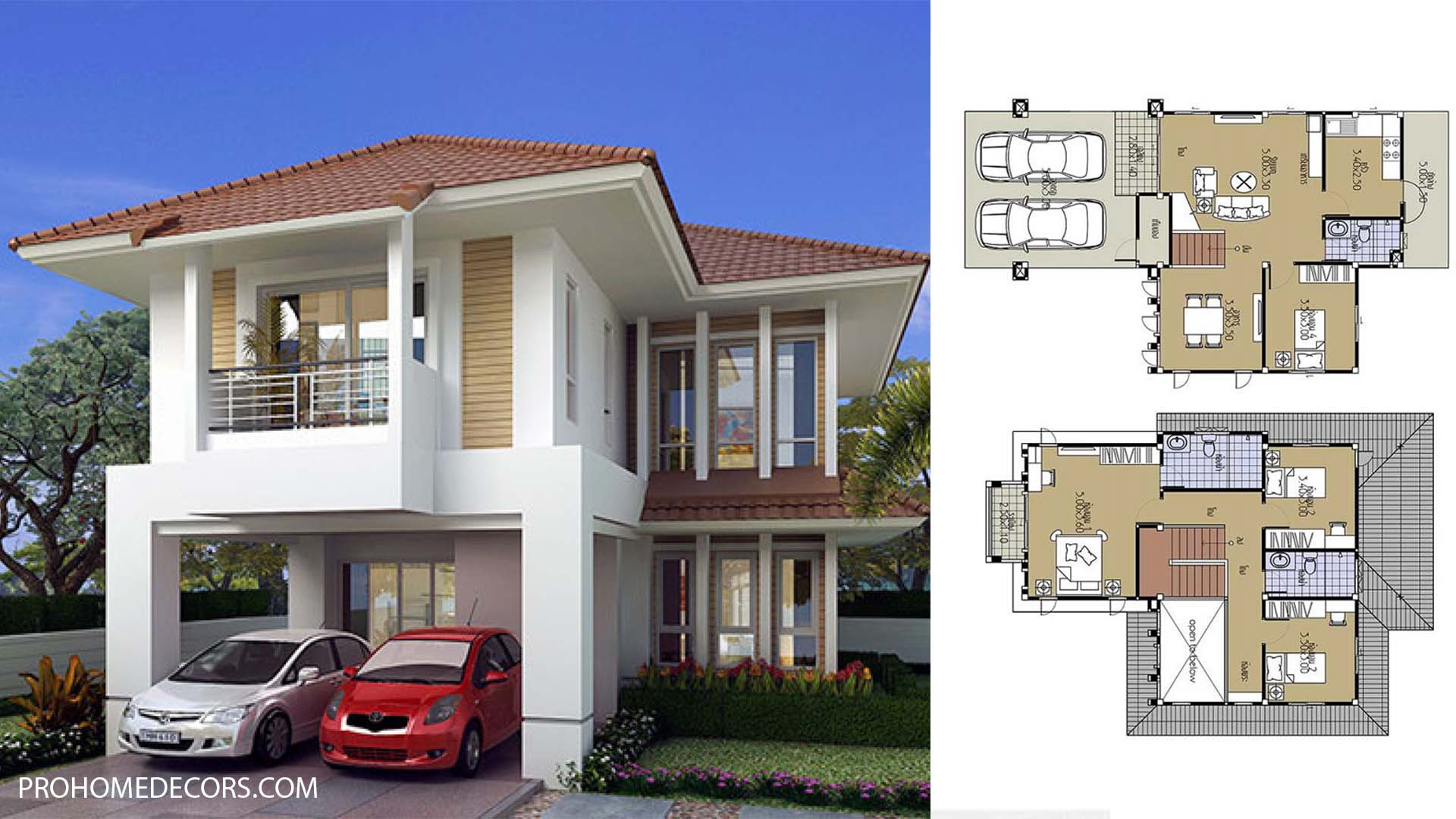 House-Plans-8.5x13.5-with-4-Bedrooms