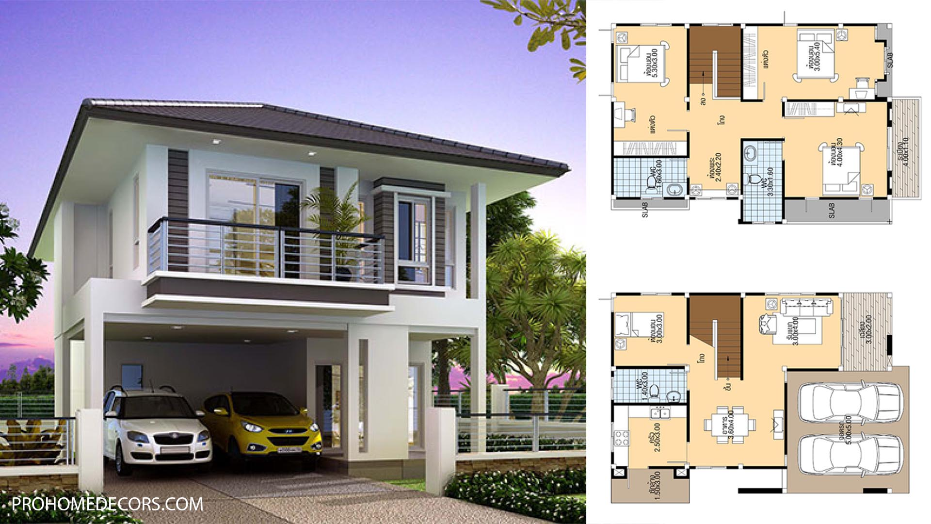 House Plans 8x12 with 4 Bedrooms