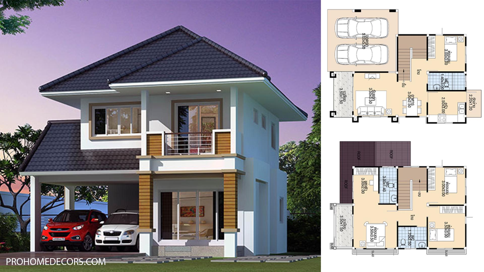 House-Plans-9x11-with-4-Bedrooms-1