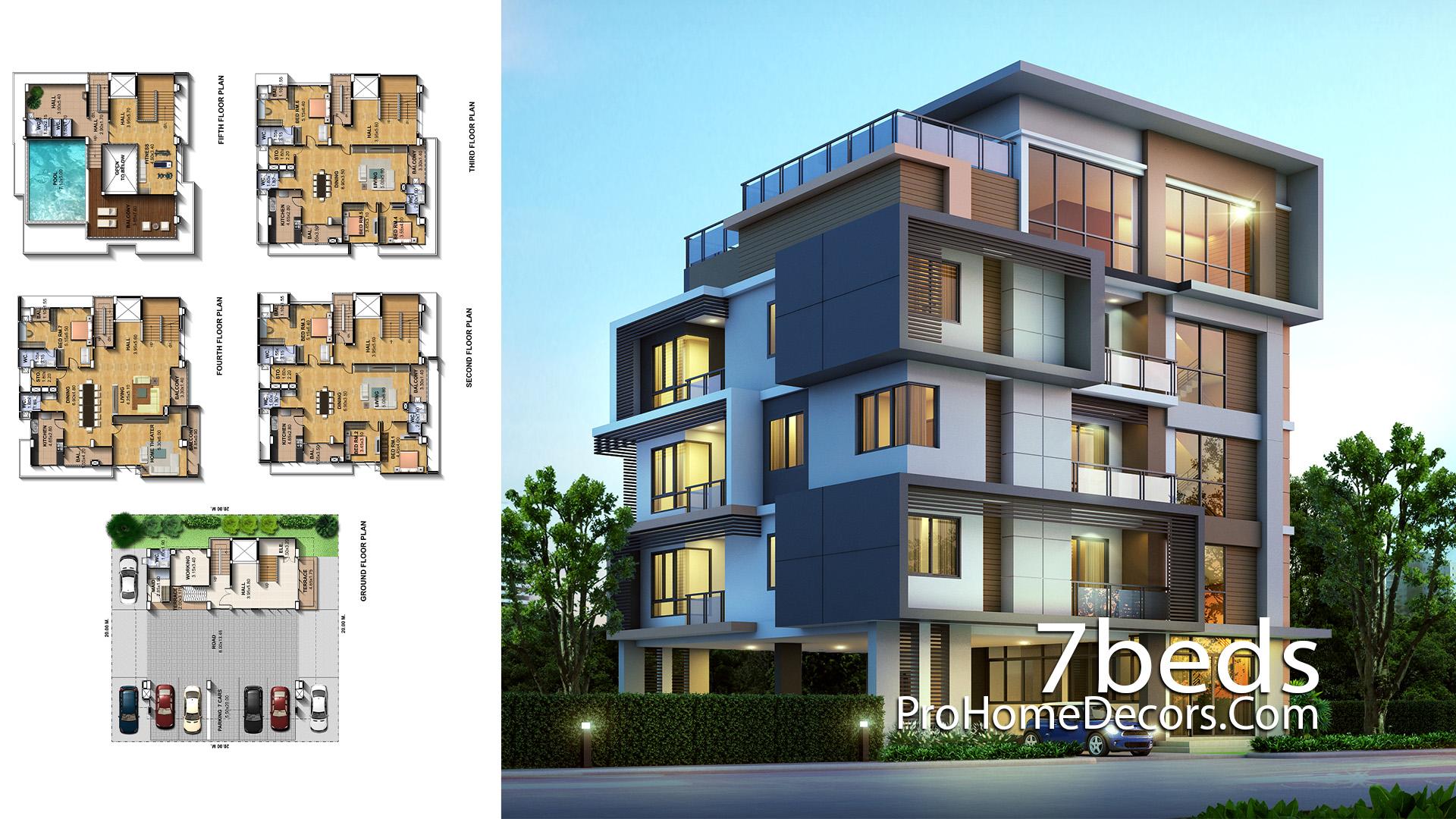 Exclusive House Plot 20x20 Meter with 7 Bedrooms