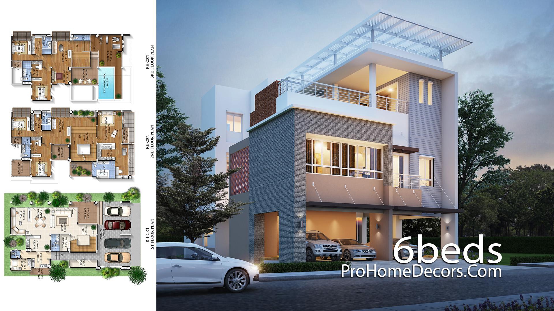 House-Design-Plan-12x20-Meter-with-6-Bedrooms